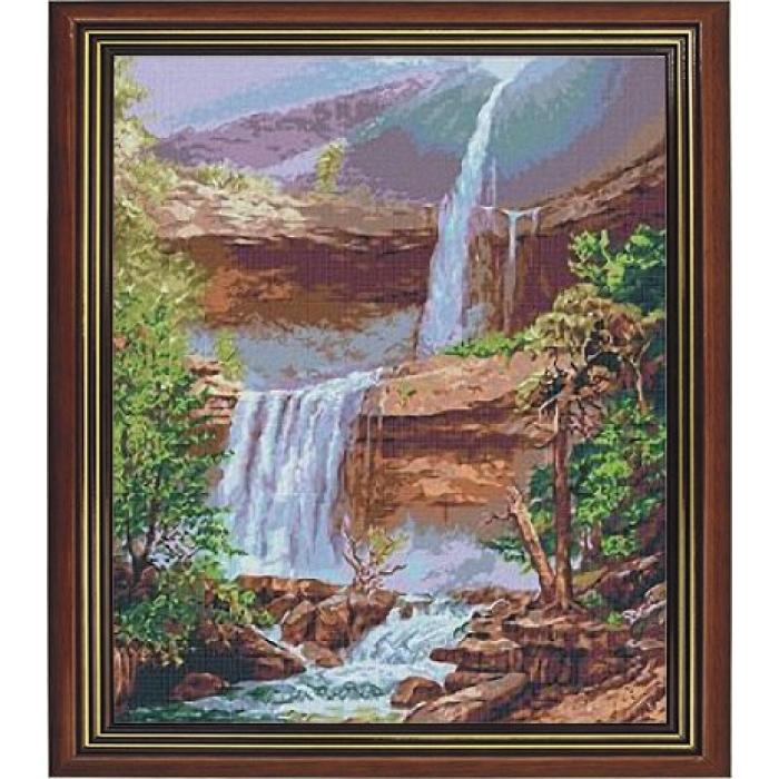 Набор для вышивания бисером ИМПЕРИЯ БИСЕРА арт.ИБ-002 Водопад судьбы 35х45 см