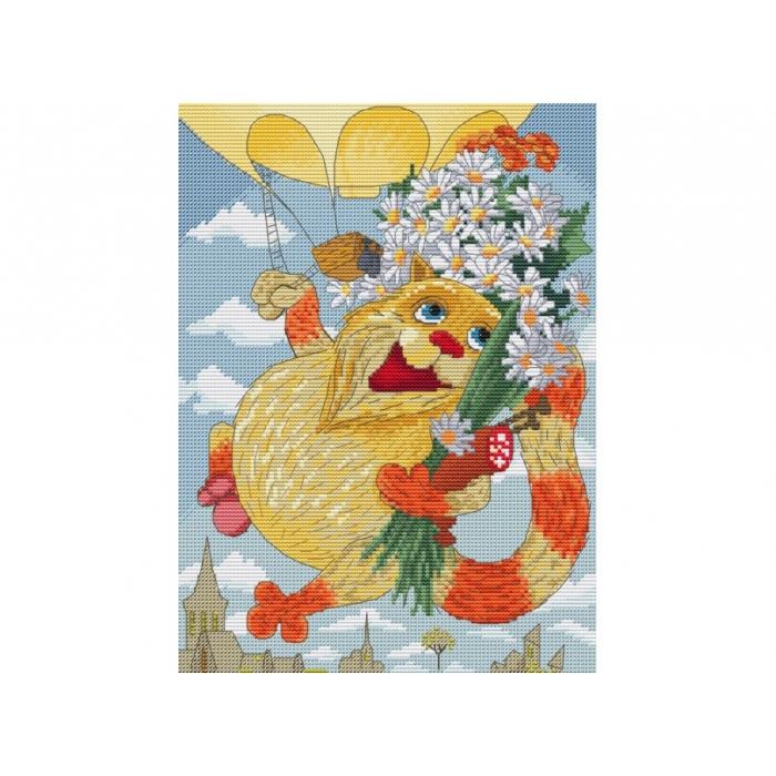 Набор для вышивания нитками БЕЛОСНЕЖКА арт.БЛ.191-14 День рождения 20х27,5см