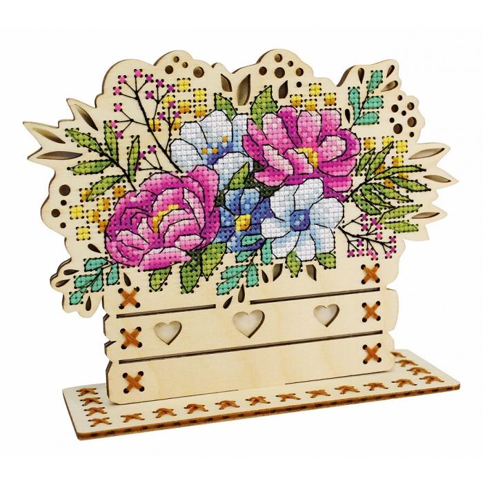 Набор для вышивания Щепка арт.О-018 Цветочная композиция 14х17 см