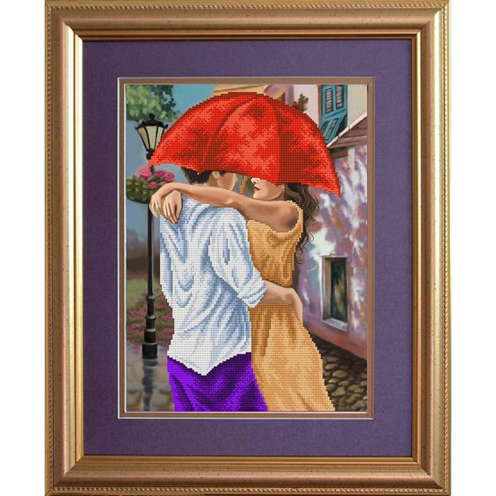 Набор для вышивания бисером СЛАВЯНОЧКА арт. НКС-3018 Свидание 28х38 см