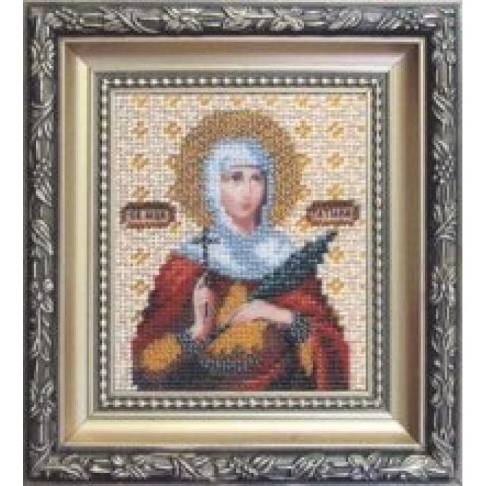 Набор для вышивания бисером ЧАРИВНА МИТЬ арт.Б-1029 Икона святой мученицы Татианы 9х11 см