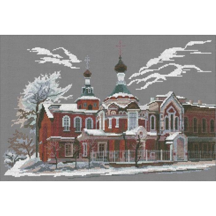 Набор для вышивания мулине НИТЕКС арт.0051 Церковь Иоанна Предтечи 44,5х30 см
