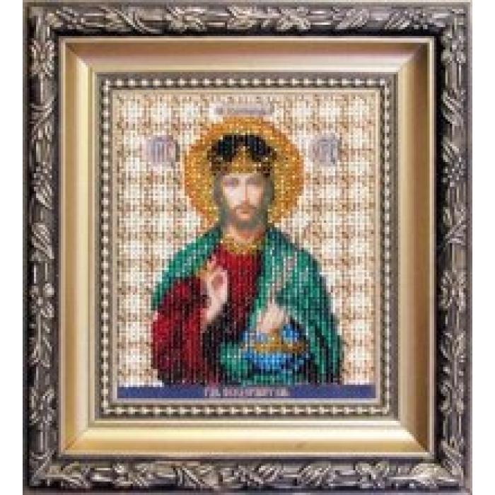 Набор для вышивания бисером ЧАРИВНА МИТЬ арт.Б-1119 Икона Господа Иисуса Христа 9х11 см