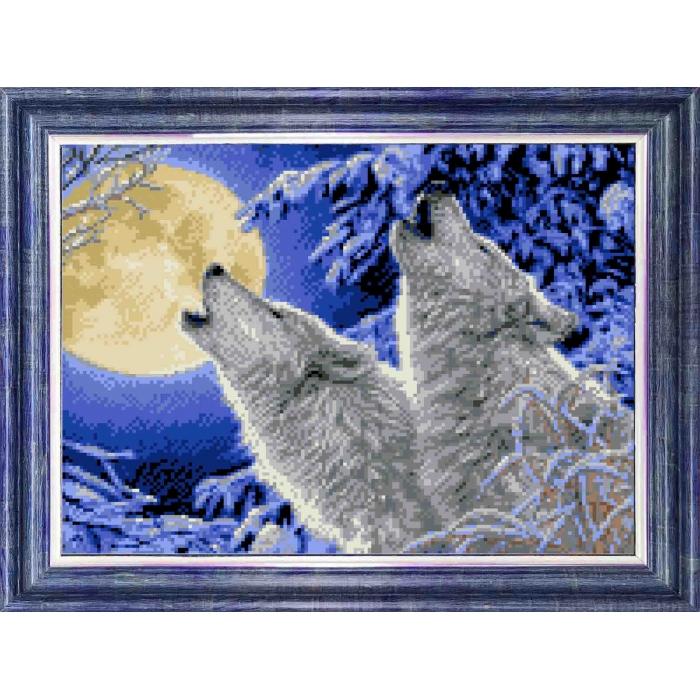 Канва с нанесенным рисунком КАРОЛИНКА арт. КК-045 Лунная соната 23х30 см