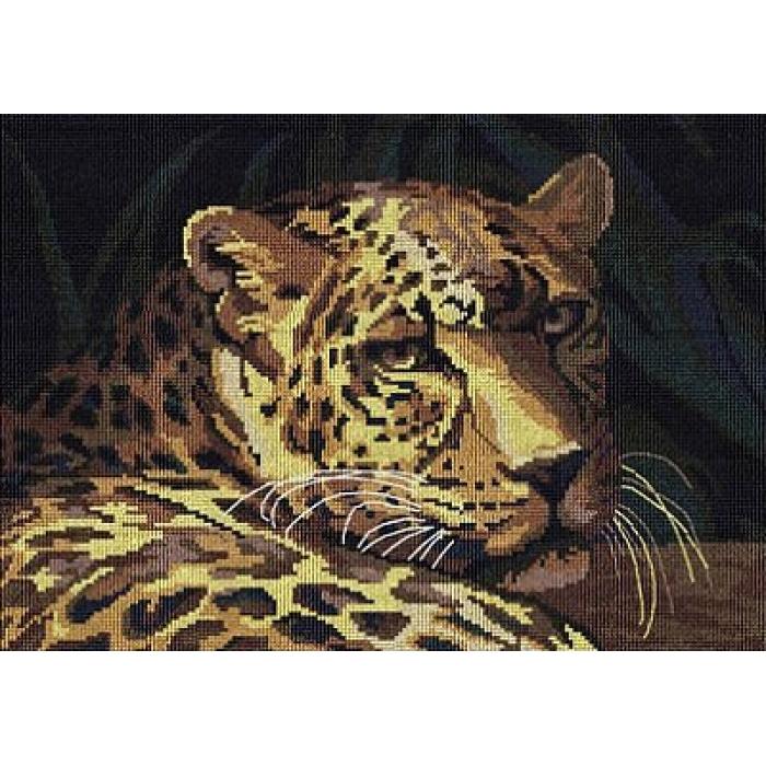 Набор для вышивания мулине НИТЕКС арт.0065 Гепард 34,5х24,5 см