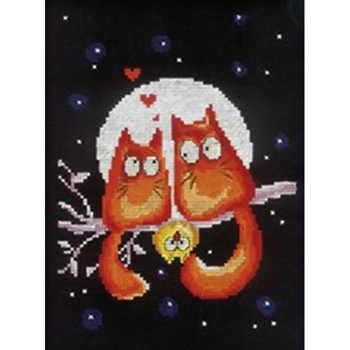 Набор для вышивания РТО арт.C139 Любовь под луной 15х20 см