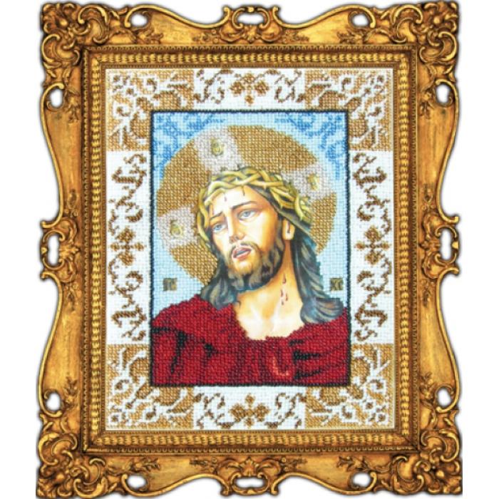 Набор для вышивания бисером ВЫШИВАЕМ БИСЕРОМ арт.L10 Иисус в терновом венке 18х24 см