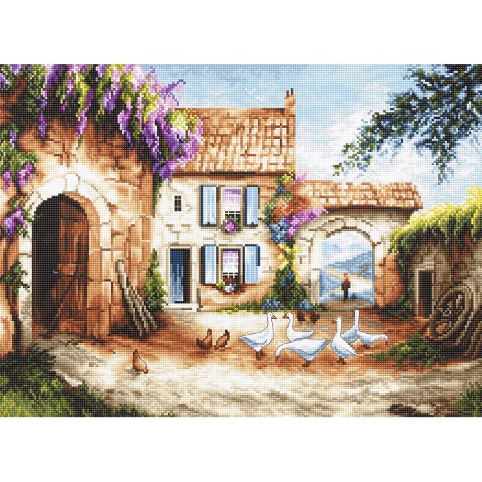 Набор для вышивания LETI арт. 902 Деревня 35х26 см