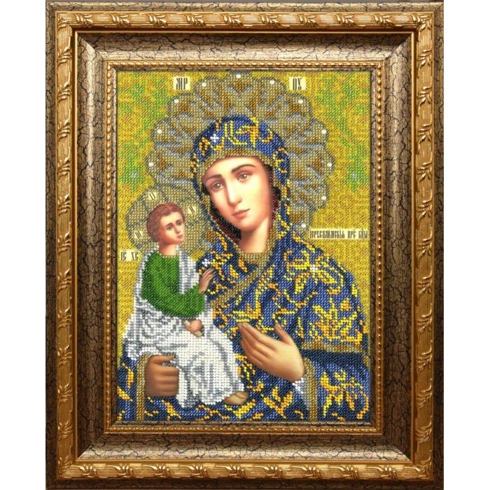 Набор для вышивания бисером ВЫШИВАЕМ БИСЕРОМ арт.L151 Божья Матерь Иерусалимская 19х25,5см