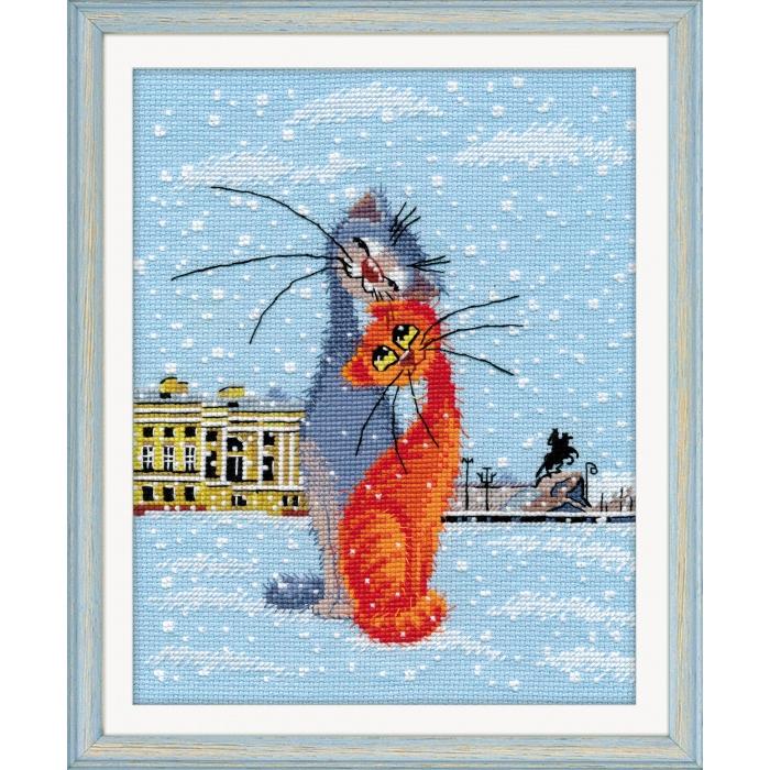 Набор для вышивания ОВЕН арт. 1032 Кошки-крошки 18х23 см