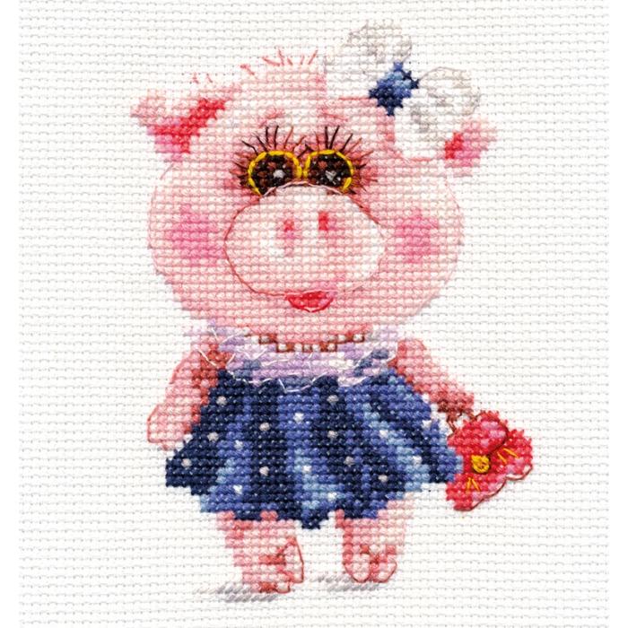 Набор для вышивания АЛИСА арт.0-183 Свинка Тося 10х12 см