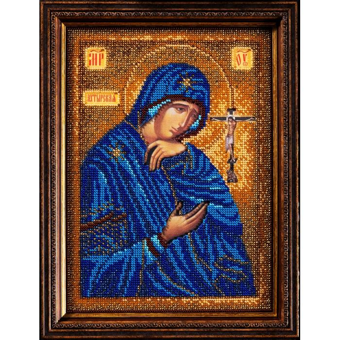 Набор для вышивания бисером КРОШЕ арт. В-195 Ахтырская Богородица 19х26 см