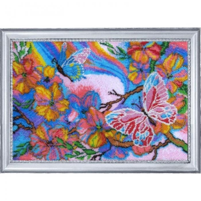 Набор для вышивания BUTTERFLY арт. 116 Сказочные бабочки 25х36 см