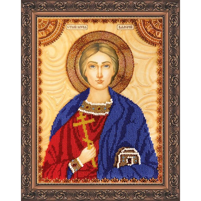 Набор для вышивания бисером АБРИС АРТ арт. AA-055 Св.Валерий 23х30 см