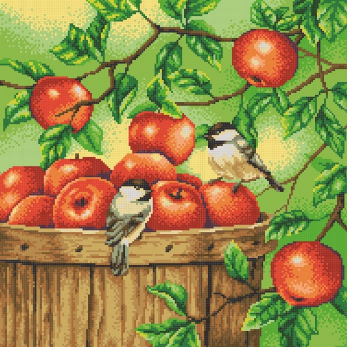 Рисунок на канве КОНЁК арт. 7811 Яблоки 40х40 см