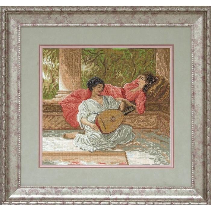 Набор для вышивания мулине КРАСА И ТВОРЧЕСТВО арт.21209 Безмятежность 39,9х35,6 см