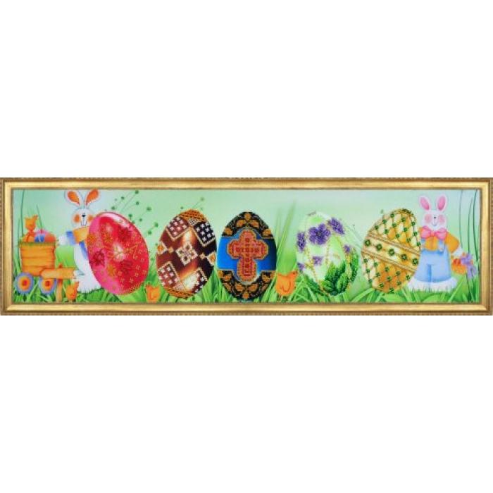 Набор для вышивания бисером КАРТИНЫ БИСЕРОМ арт.P-161 Пасхальная картина 54х12 см
