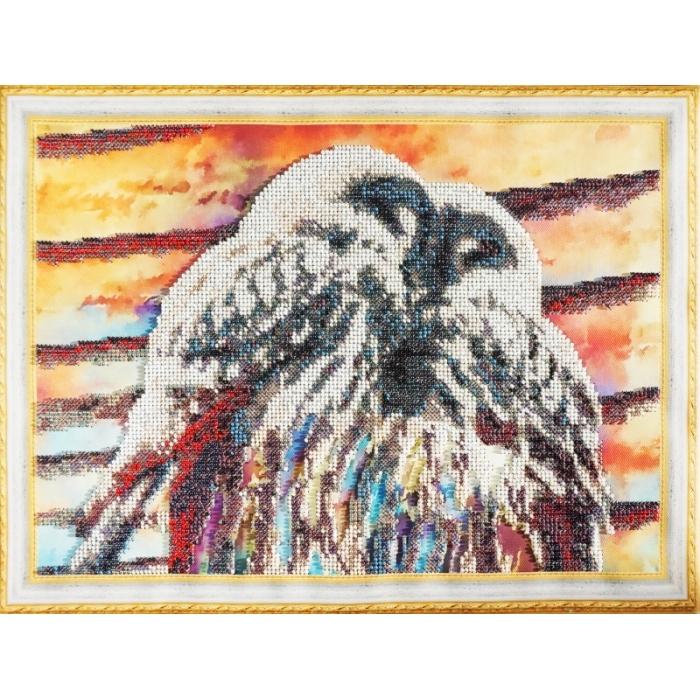 Набор для вышивания бисером КОЛОР КИТ арт.КК.VS021 Совята 30х40 см