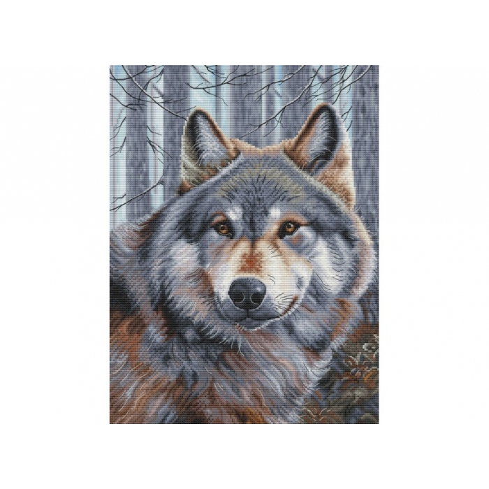 Набор для вышивания нитками БЕЛОСНЕЖКА арт.БЛ.200-14 Волк 27х36,5см