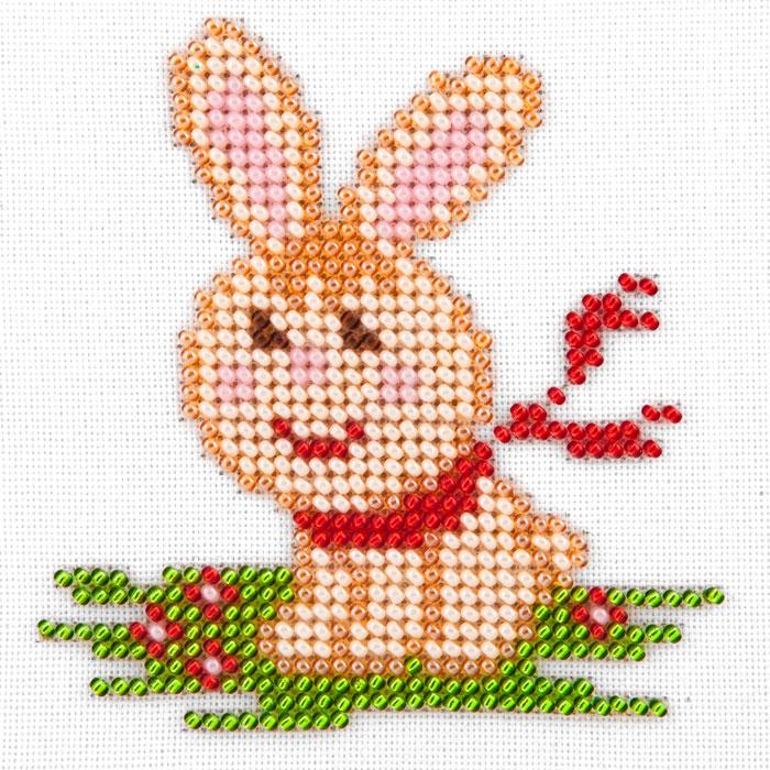 Набор для вышивания бисером LOUISE арт. L471 Заяц 11х11 см