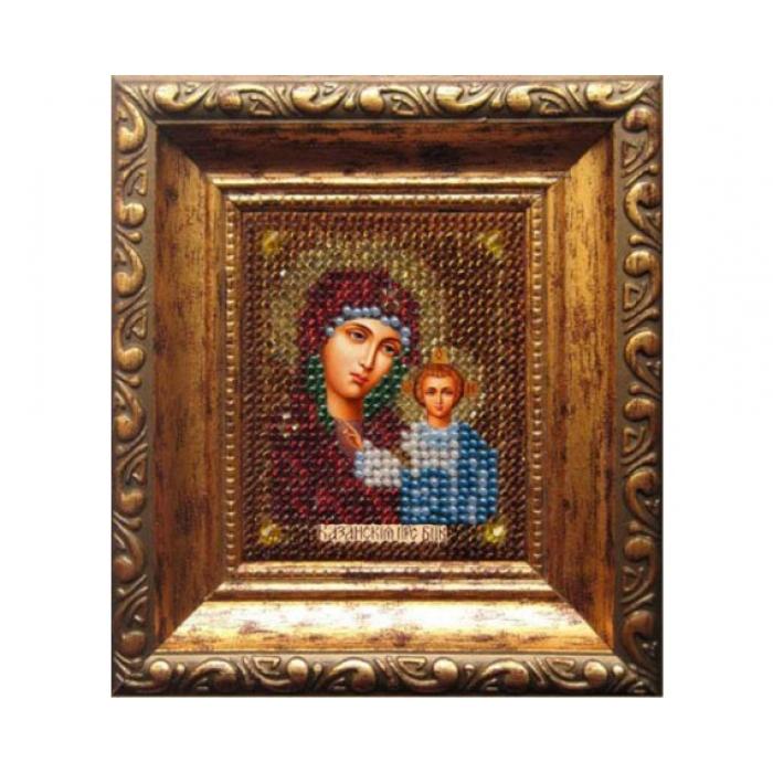 Набор для вышивания ВЫШИВАЛЬНАЯ МОЗАИКА арт. 005ПИ Божия матерь Казанская (путная) 6х7см