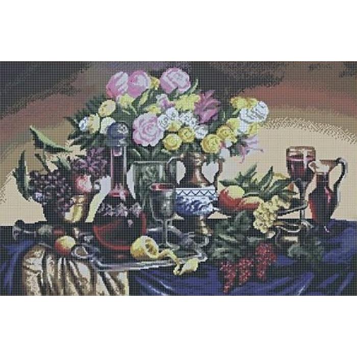 Набор с нанесенным рисунком для вышивания бисером ИМПЕРИЯ БИСЕРА арт.ИБ-101 Скатерть-самобранка 45х63 см