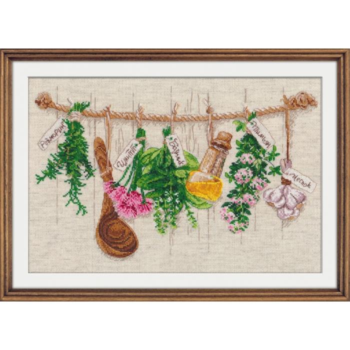 Набор для вышивания ОВЕН арт. 1079 Душистые травы 34х22 см