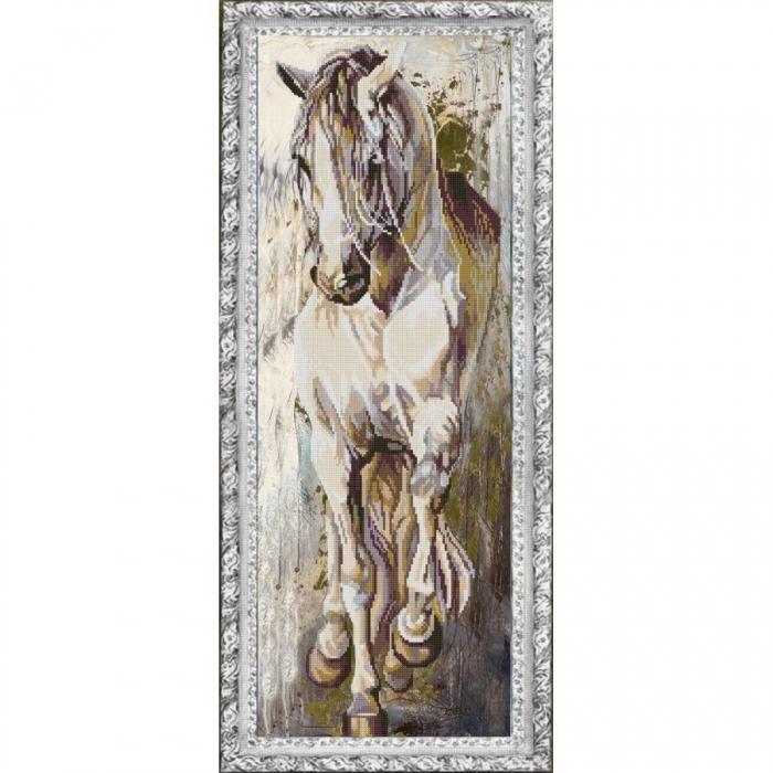 Рисунок на ткани (Бисер) КОНЁК арт. 1230 Норд 25х65 см