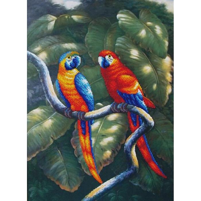 Набор для вышивания бисером МАГИЯ КАНВЫ арт.Б011 Краски джунглей 33,5х47,5 см