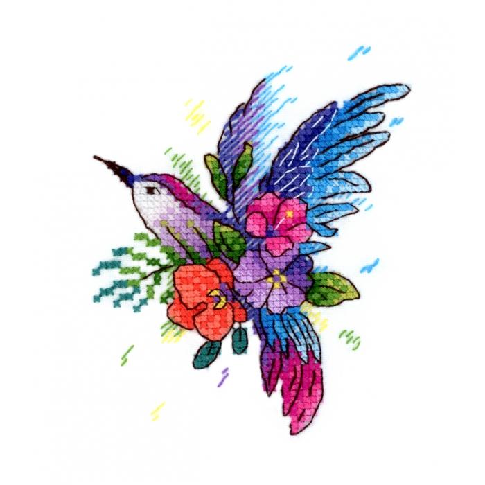 Набор для вышивания ЖАР-ПТИЦА арт.В-256 Райская птичка 11х9 см