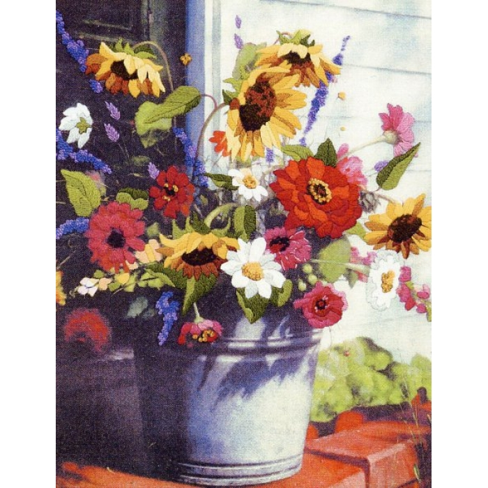 Набор для вышивания DIMENSIONS арт.DMS-01534 Корзина цветов 28х36 см