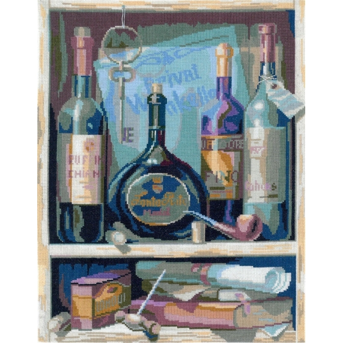 Набор для вышивания мулине НИТЕКС арт.0091 Вино 24х33 см