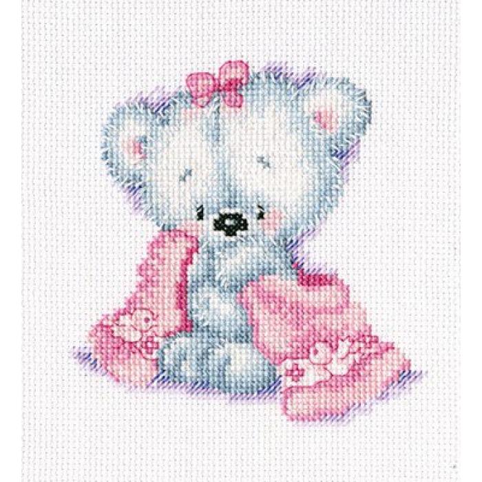 Набор для вышивания РТО арт.C219 Мишка-малышка 15х20 см