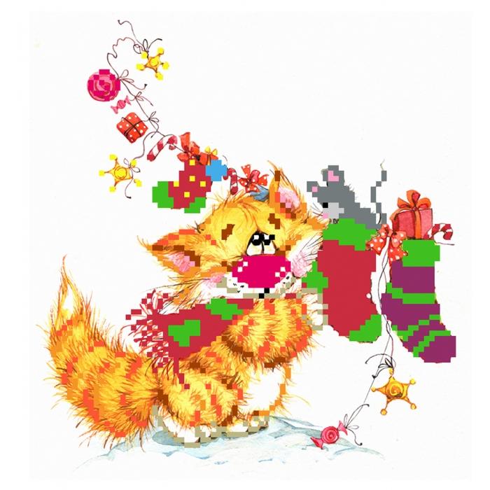 Набор для вышивания бисером МАТРЕНИН ПОСАД арт.24х26 - 0126/Б Без кота - жизнь не та! Рукоделов