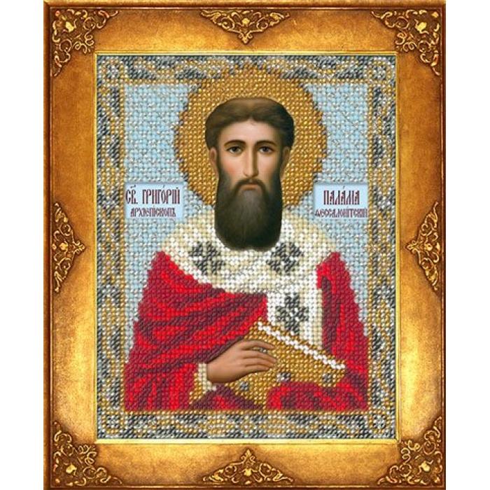Набор для вышивания бисером РУССКАЯ ИСКУСНИЦА арт.235 БИ Св. Григорий 12,5х16,3 см