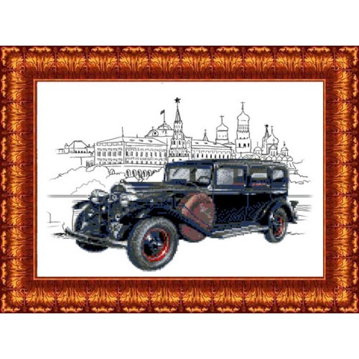 Канва с нанесенным рисунком КАРОЛИНКА арт. КК-036 Красный путиловец 23х30 см