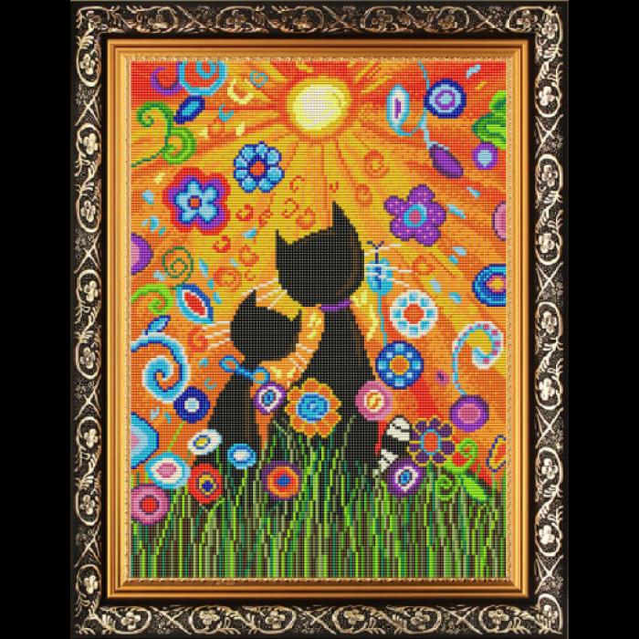 Рисунок на габардине СЛАВЯНОЧКА арт. КС-3047 Ценители прекрасного 28х38 см
