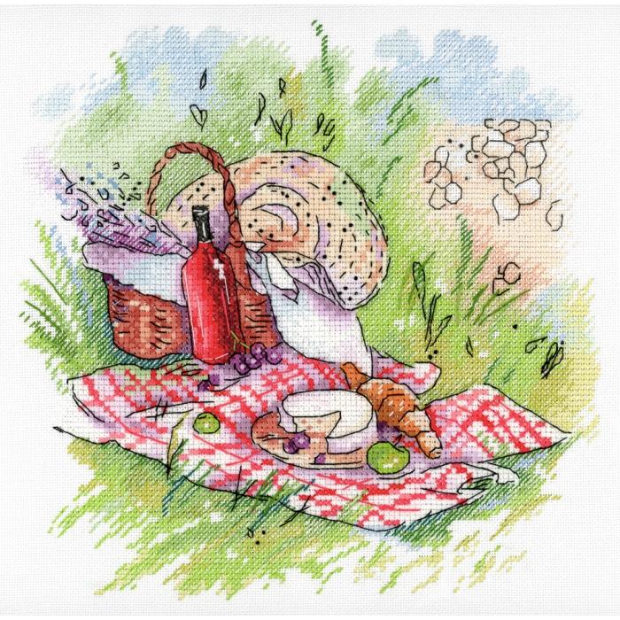 Набор для вышивания МП СТУДИЯ арт.А-006 Прованский пикник 20х20 см