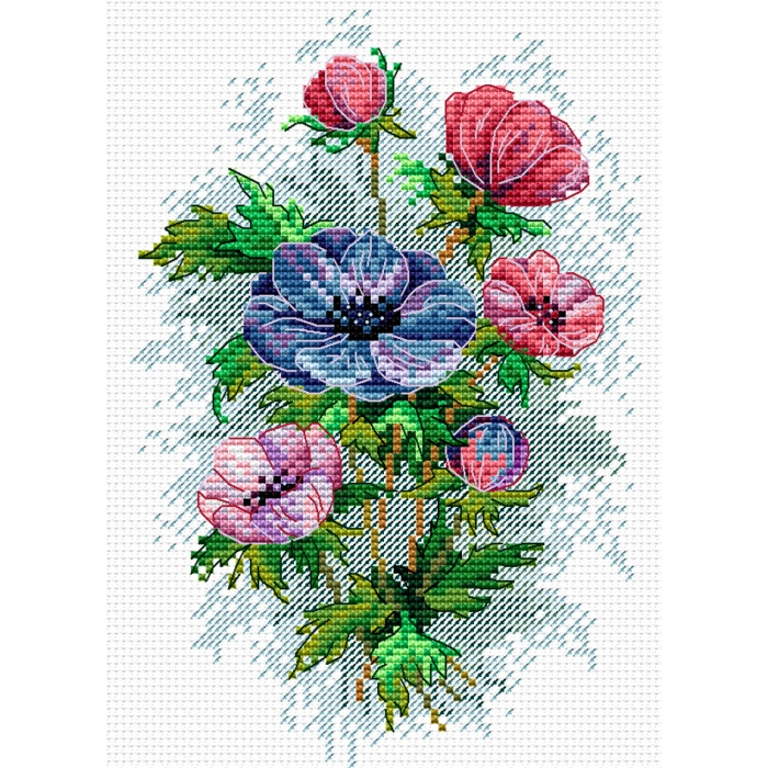 Набор для вышивания ЖАР-ПТИЦА арт.М-122 Цветы осени 18х15 см