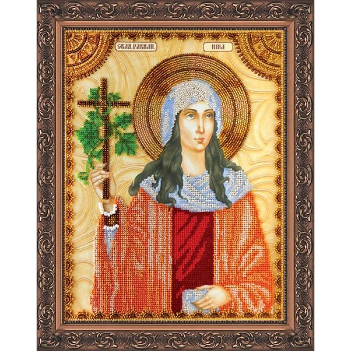 Набор для вышивания бисером АБРИС АРТ арт. AA-056 Св.Нина 23х30 см
