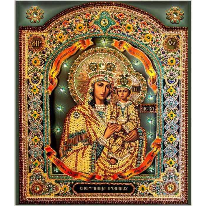 Набор для вышивания хрустальными бусинами ОБРАЗА В КАМЕНЬЯХ арт. 7722 Споручница Грешных 47х38,5 см