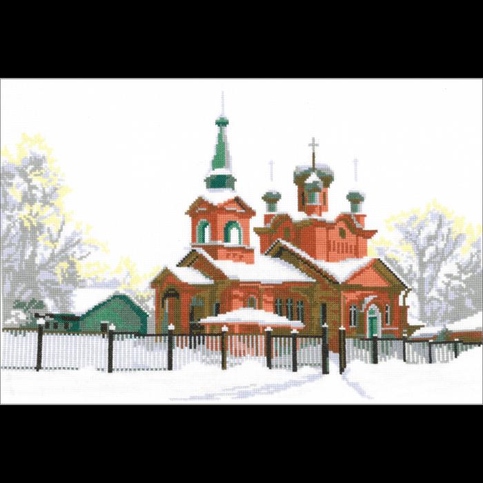 Набор для вышивания мулине НИТЕКС арт.0053 Церковь Святого Александра 41х27 см