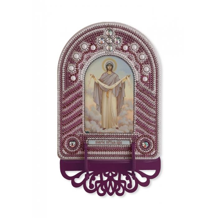 Набор для вышивания бисером НОВА СЛОБОДА арт.ВК1014 Покров Пресвятой Богородицы 10х13 см