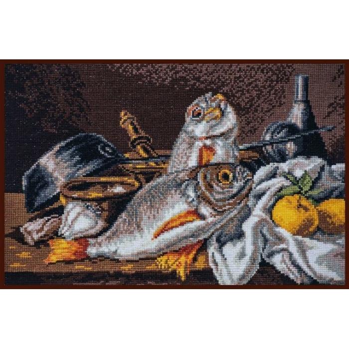Набор для вышивания ПАЛИТРА арт.04.006 Натюрморт с дорадо 29х20 см