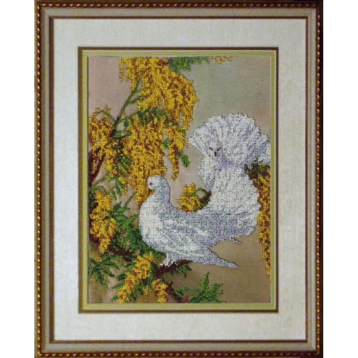 Набор для вышивания бисером КРАСА И ТВОРЧЕСТВО арт.10510 Дыхание весны 23,2х31,4 см