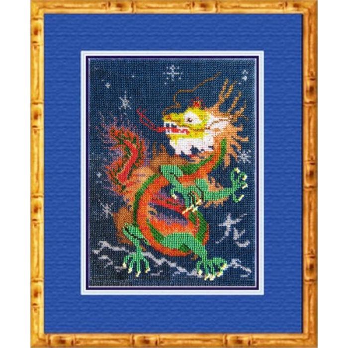 Набор для вышивания ВЫШИВАЛЬНАЯ МОЗАИКА арт. 034РЗ Год дракона 20х27. 5см