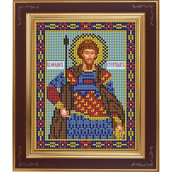 Набор для вышивания бисером GALLA COLLECTION арт.М 278 Великомученник Феодор Стратилат 12х15 см