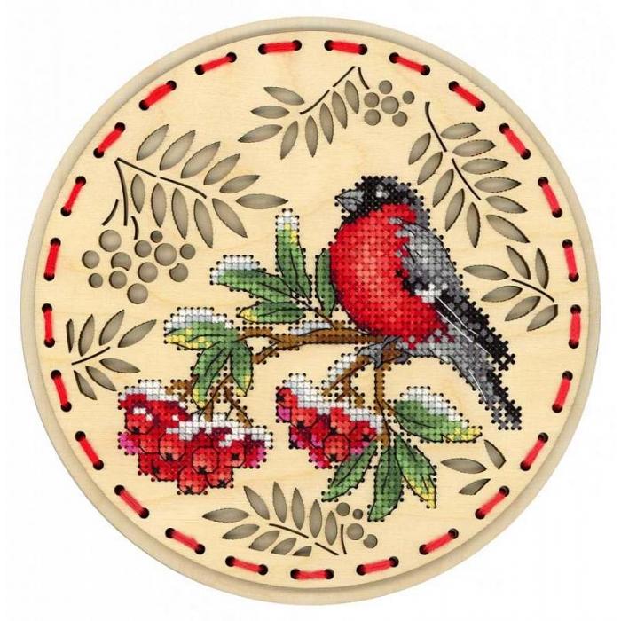 Набор для вышивания Щепка арт.О-039 Зимний гость 18х18 см