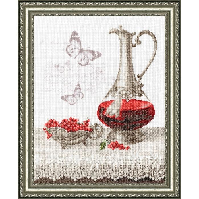 Набор для вышивания крестом ЗОЛОТОЕ РУНО арт. КН-009 Смородиновый десерт 39,3х32,5 см