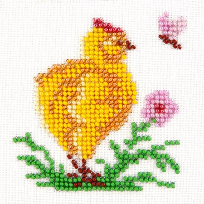 Набор для вышивания бисером LOUISE арт. L451 Цыпленок 11х11 см